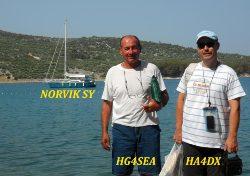 Még Horvátországban a felkészítés alatt: a hajó, a kapitány és a rádiós